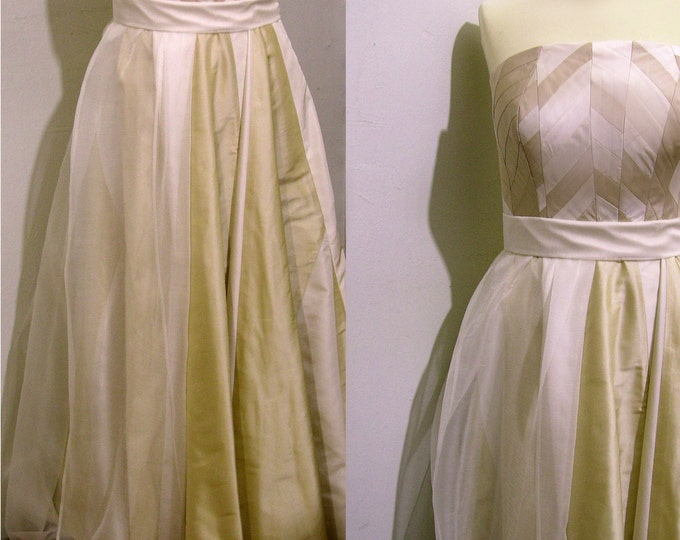 Wedding Dress yosegi harlequin sand ivory