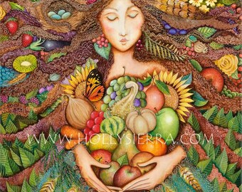 The Harvest Goddess - A Fine Art Greeting Card