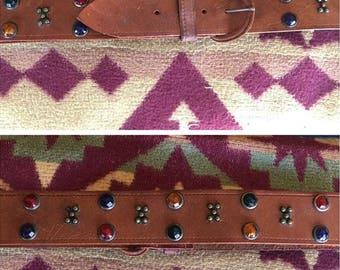 1940s studded leather belt.