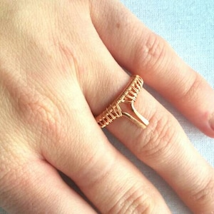 Bohochic wire woven ring, bohemian copper jewelry, nature gypsy jewelry, bohemian jewelry