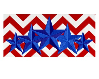 5 STARS Patriotic Design - Memorial Day - 4th of July Welcome home - Embroidery DESIGN FILE - Instant download - Dst Hus Pes Exp Vp3 formats