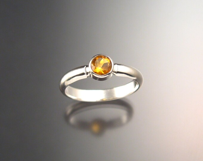 Citrine ring Sterling silver handmade in your size