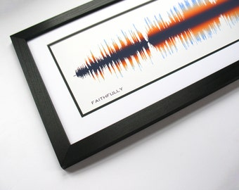 Faithfully - Journey - Song SoundWave Art - Created From Entire Song.