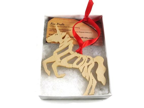 Unicorn Christmas Ornament Handmade From Birch Wood By KevsKrafts, BN-5