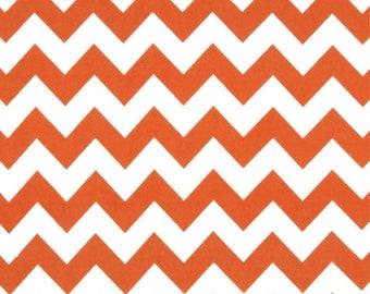 "Orange chevron fabric SALE Riley Blake designs 24"" cut (2 feet)  fabric"