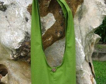 Princess Mononoke KODAMA Hip / Shoulder sling Bag Thai Cotton 8 green