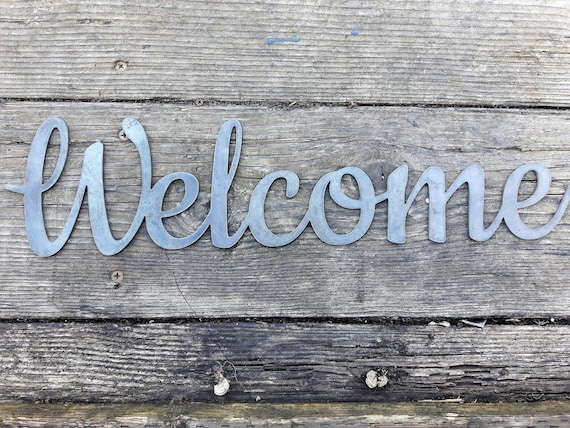 Metal Welcome Sign Front Door Sign Business Welcome Sign