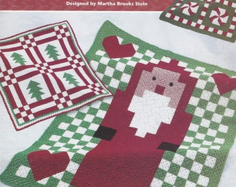 Granny Square Christmas Afghans, Annie's Attic Crochet Pattern Booklet 872815 RARE NEW