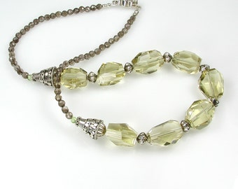Lemon Quartz and Silver Necklace