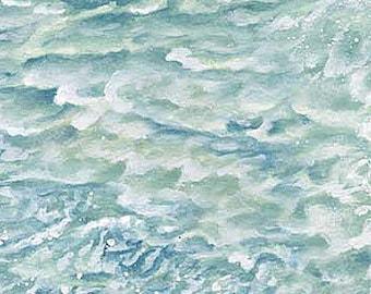 Naturescapes Aqua Waves 21391-62 by Northcott Cotton Fabric Yardage
