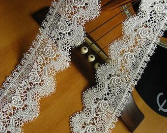 off white lace trim, white venise lace, bridal lace, lace trim, vintage lace, wedding lace, exquisite lace