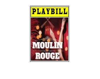 Theater / Show Charm - Playbill Play Bill - Moulin Rouge