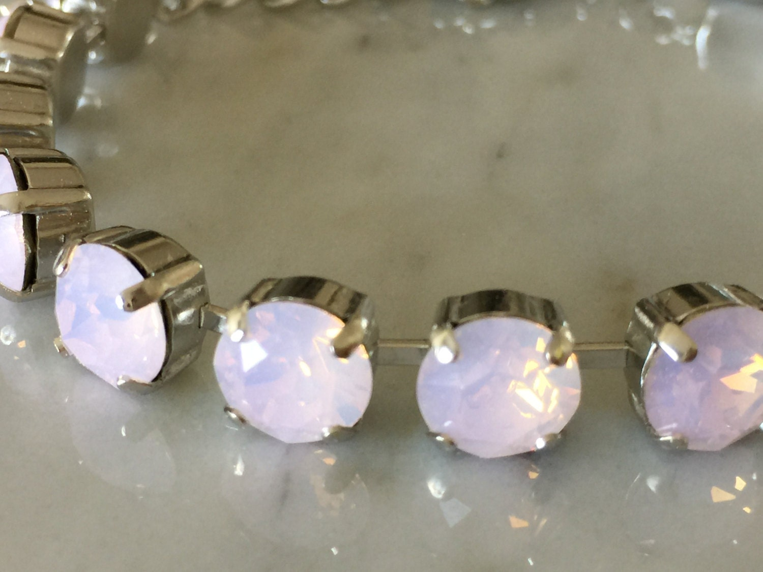 amethyst and opal bracelet pink product