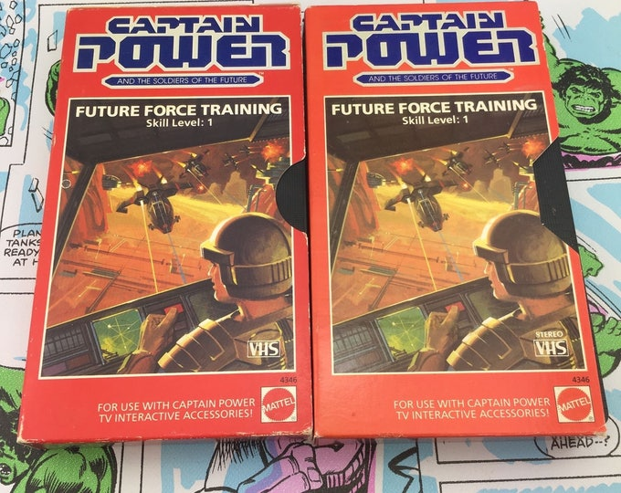 Featured listing image: CAPTAIN POWER Mattel VHS - Future Force Training Skill Level 1 - Both Versions