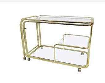 Design Institute America Brass Extendable  Rolling Cart