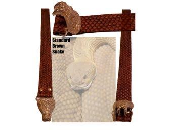 Standard Brown Snake Belt