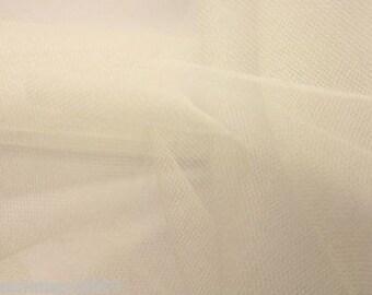 Tulle Netting Dress Fabric 140cm Wide 30 Colour Range -  Cream