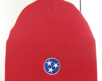 Tennessee Tristar knit beanie hat. Made in the USA