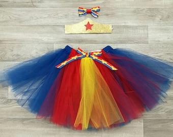 Wonderwoman inspired tutu set