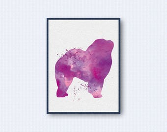 Chow Chow Watercolor Poster