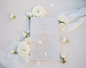 Wedding Vow Book - Archival Wedding Vow Keepsake Book - by Claire Magnolia