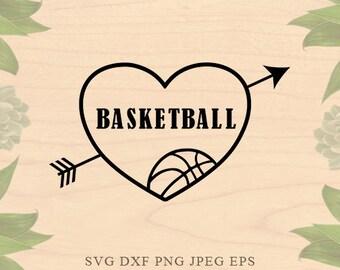 Basketball SVG ball svg Love Sports svg basketball mom svg Cut File EPS Dxf Files for Silhouette Studio Cricut Downloads Cricut files