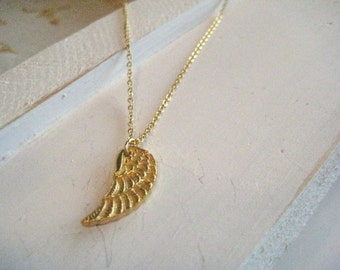 Gold Vermeil Angel Wing Necklace, 18k gold vermeil, angel wing necklace, miscarriage, infant loss, child loss, memorial gift, gift for her