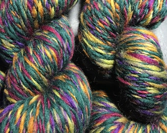 Dark Forest - Hand Spun Corriedale Wool, 8-10 ply DK-Lightly Worsted