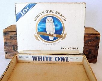 Vintage Cigar Box - White Owl Brand