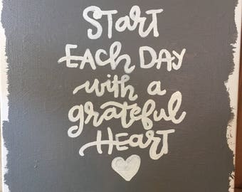 Start Each Day with a Grateful Heart