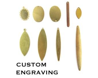 Custom Engraving Oval Charms