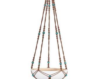 Hanging fruit, macrame (bamboo Bowl): 100 cm hanging basket