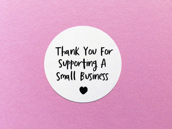 Thank you stickers small business label thank you for