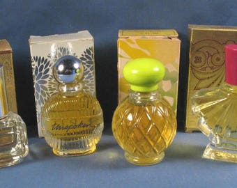 Vintage Avon Cologne Miniatures - Set of Four with Boxes