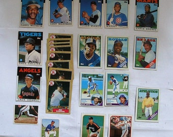 These 25 (ex  cond) 1980's  MAJOR LEAGUE Baseball cards. Cards by TOPPS See description