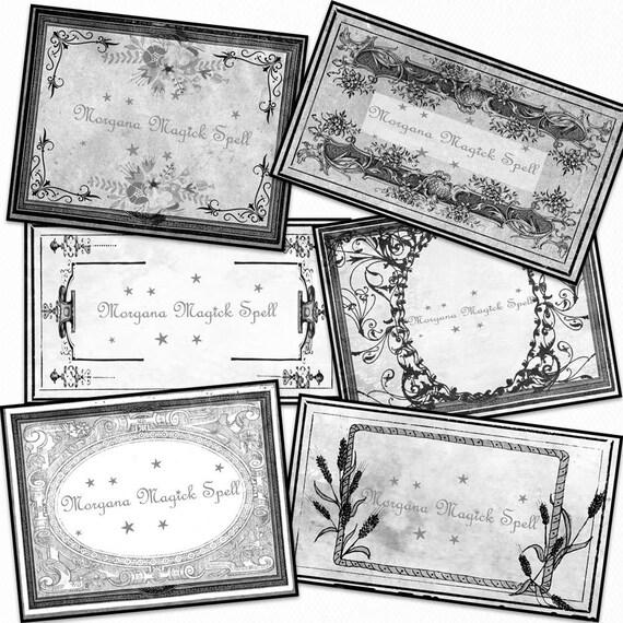 Blank Apothecary Labels Black & White - Printable