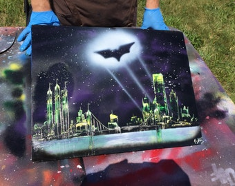 Gotham City - Joker Colors - Spray Paint Art