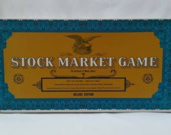Vintage Stock Market Game from Whitman Deluxe Edition 1960's, COMPLETE