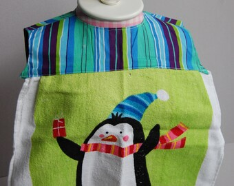 Penguin Present Bodice Bib