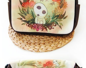 Kodama from Princess Mononoke Tree Spirit Studio Ghibli Messenger Bag