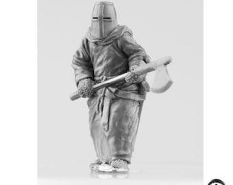 """Templar with Axe """"Butcher"""". 28 mm Crusade"""
