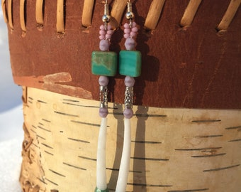 Single Shell Dentalium Earrings