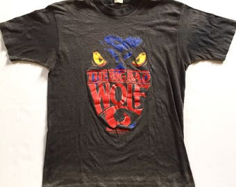 Vintage 80s The Big Bad Wolf Tee Shirt 1980s Thin Faded Soft Awesome Graphic