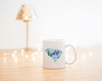 Home Coffee Mug- Home Mug- Home State Mug- Home State Coffee Cup- Watercolor Mug- Watercolor Coffee Mug- Home Coffee Cup