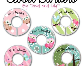 CLOSET DIVIDERS Sweet Little Owl Girls Bedroom and Baby Nursery Art Decor CD0002