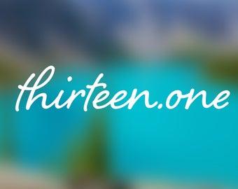 13.1 HALF MARATHON RUNNER decal sticker, white, thirteen.one finisher-- car / laptop / macbook / water bottle / window / anywhere!