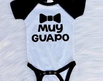 Baby onesie, muy guapo, baby boy onesie, funny onesie, muy guapo onesie, cutest baby