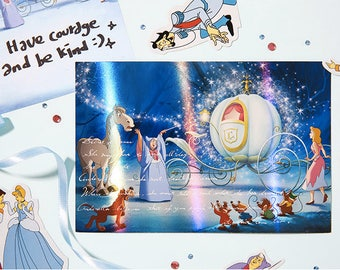 Disney Post card / Disney Princess Hologram Post Card / 6type [Beauty and the Beast, Cinderella, Snow White, Mermaid] / C-02 / 1683206