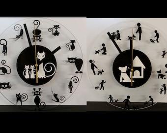 Cat or dog clocks