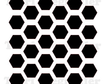 """Offset Hexagons 6x6"""" Stencil"""